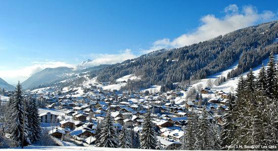 Les Gets in skigebied Les Portes du Soleil