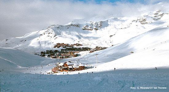 skien in skigebied val thorens
