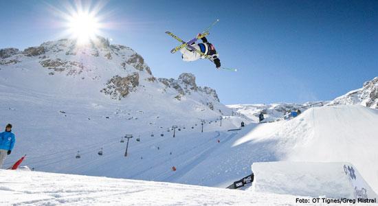 Skien in Tignes