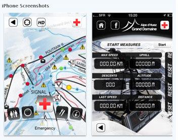 apps Franse skigebieden