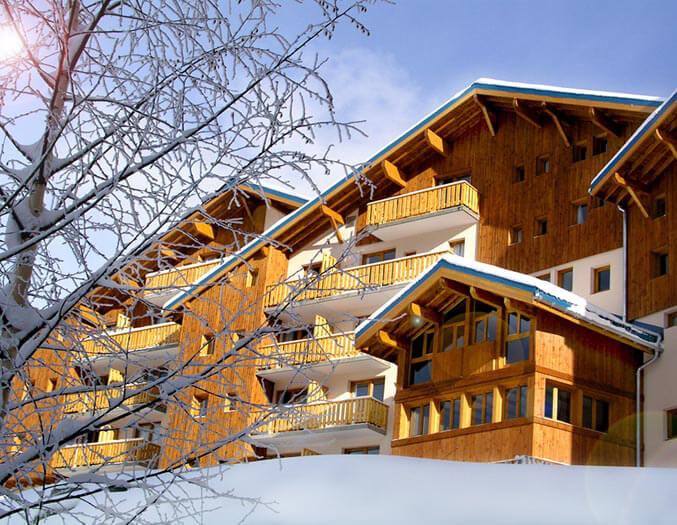 Résidence La Turra: appartementen voor 4-8 personen aan de piste in Valfréjus met zwembad en sauna