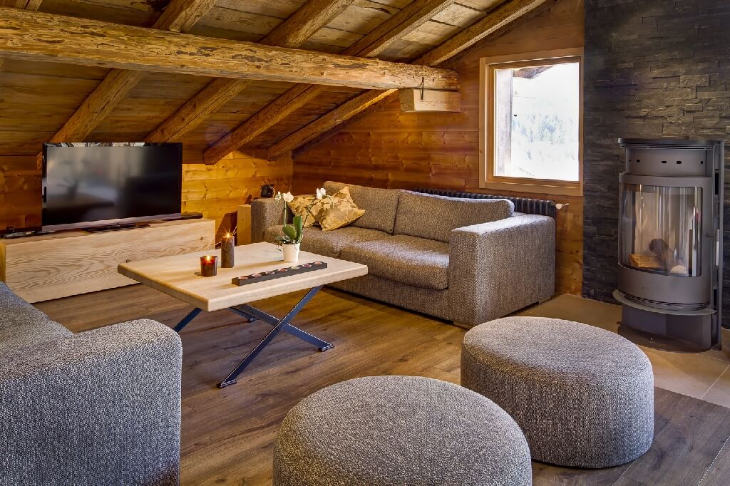 Wintersport in een penthouse in Les Gets – Chalet-appartement Chalet Arole