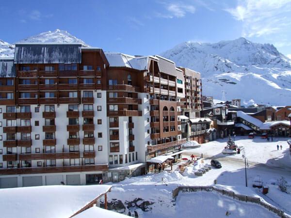 Appartementen aan de piste in Résidence Altineige Val Thorens © Snowtime.
