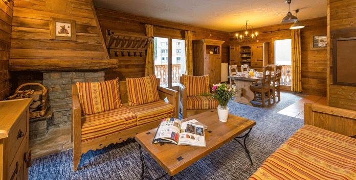 Een van de 5 sterren appartementen in Chalet de l'Ours in Les Arcs © Chalet de l'Ours