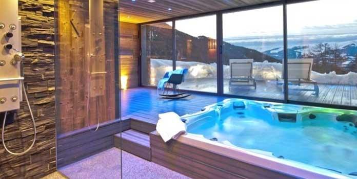 Chalet Odalys Mont Soleil: chalet met sauna en bubbelbad in La Plagne. © Odalys