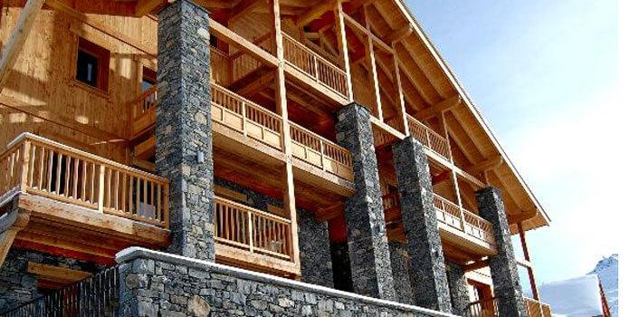 Chalet-appartementen Dame Blanche: grote chalets met sauna in Les Menuires