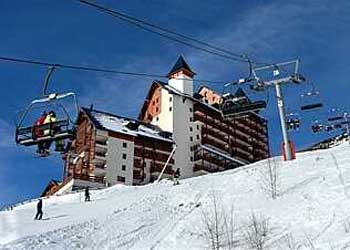 Appartementen aan de piste in Les Deux Alpes