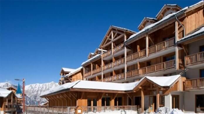 Wintersport Les Orres: Le Bois Méan, appartementen met zwembad en wellness