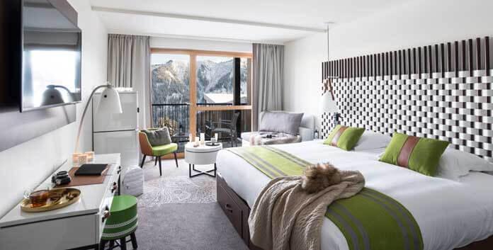 Club Med Samoëns Morillon in Grand Massif telt 420 kamers en suites. © Club Med