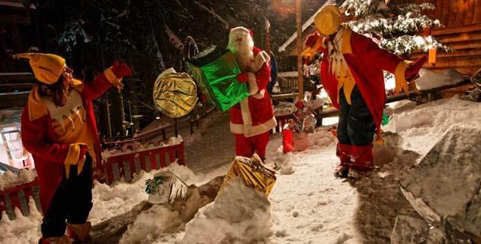 Op wintersport in de kerstvakantie bij de kerstman in Les Gets