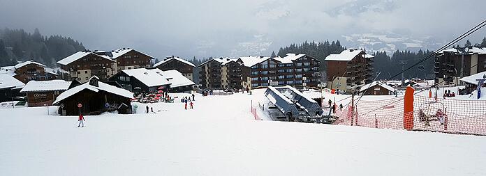 Wintersport in skigebied Morillon: Morillon Les Esserts ook wel bekend als Morillon 1100 © WintersportFrankrijkGids.nl