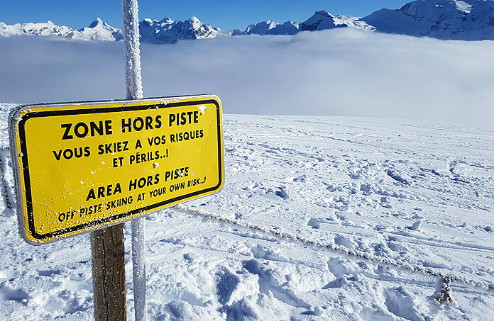 De Combe de Gers tussen Flaine en Samoëns is een geliefd off-piste gebied in Grand Massif © WintersportFrankrijkGids.nl