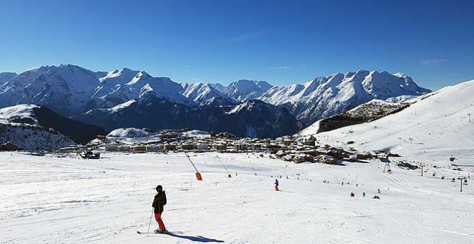 Skigebied Alpe d'Huez Grand Domaine met als bekendste dorp Alpe d'Huez © WintersportFrankrijkGids.nl