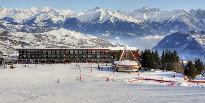 wintersport in skigebied Le Corbier