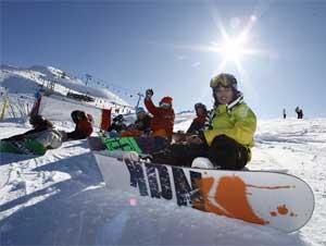 Snowboarden in Serre Chevalier