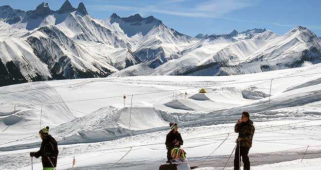 Wintersport in Saint Jean d'Arves: snowpark