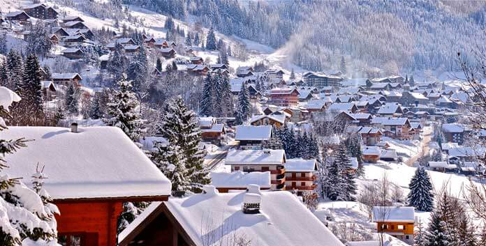 chalets op wintersport Chatel