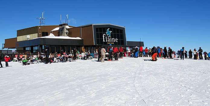 Wintersport in Flaine: het bergstation van de Grandes Platières-gondel © WintersportFrankrijkGids.nl